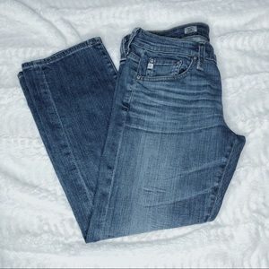 AG Adriano Goldschmied Size 27 Tomboy Crop Jeans
